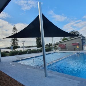 Commercial pool shde sail